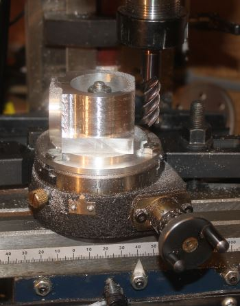 machining the poppet valve case