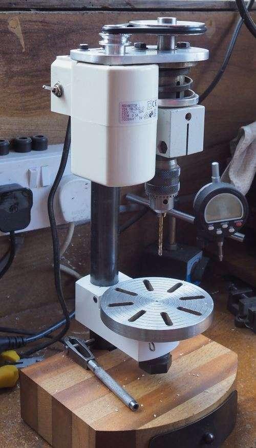 unimat 3 pillar drill and homemade pulleys