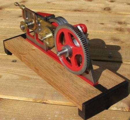 geared flyhweel on oscillating engine
