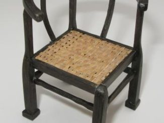 1/12th scale bog oak chair