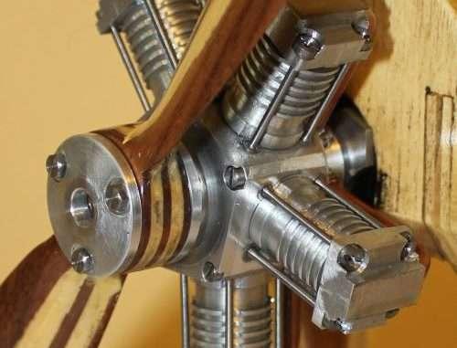 five cylinder rotary steam engine
