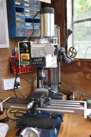 mini milling machine converted to belt drive