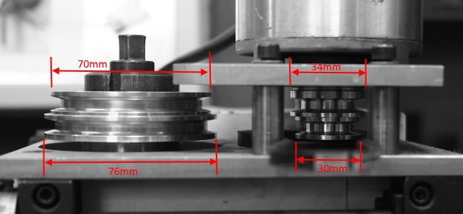 basic dimensions for mini-mill belt drive