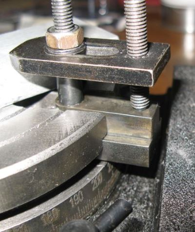 long T-nuts to extend a rotary table