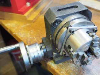 rotary table and 4-jaw chuck