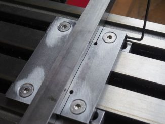 low profile clamps on milling machine