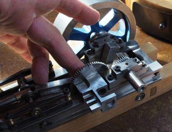 horizontal engine timing gears