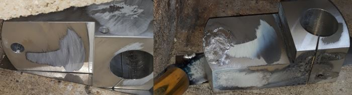 durafix material melted into hole