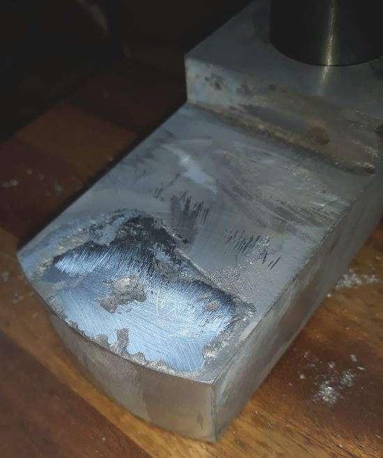 filled hole in aluminium