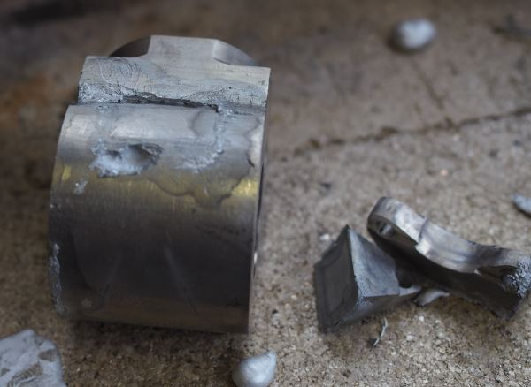 aluminium brazing gone wrong