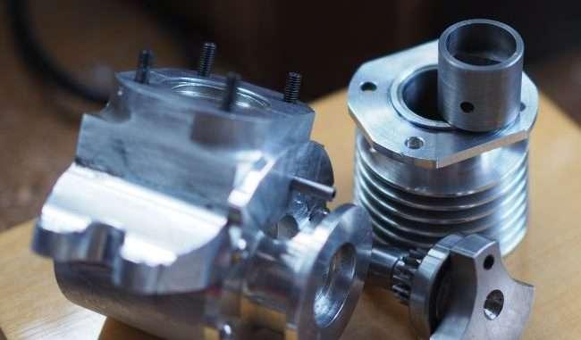 engine crankcase, crank and cylinder