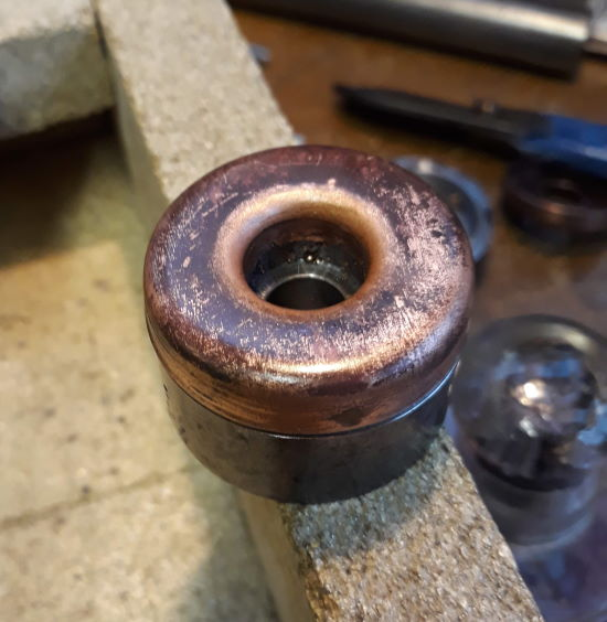 copper formed over the former
