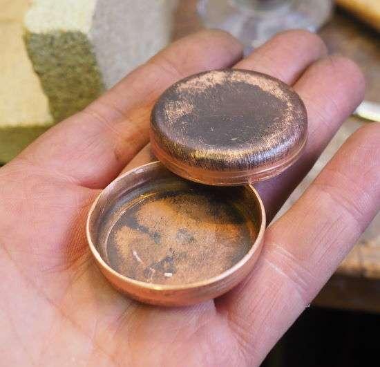 copper endplates for the boiler