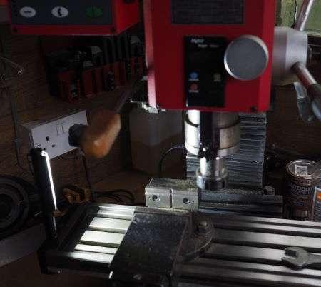 nebo light on milling table