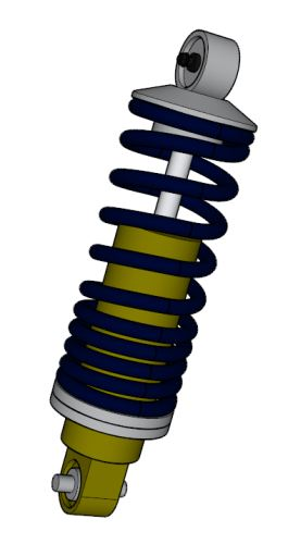 CAD image of a shock absorber