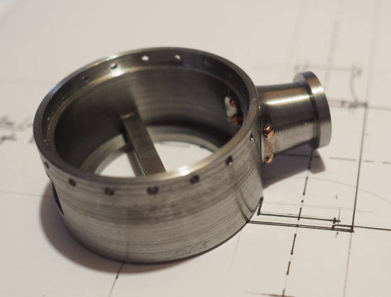 smokebox with 18 holes pre-drilled