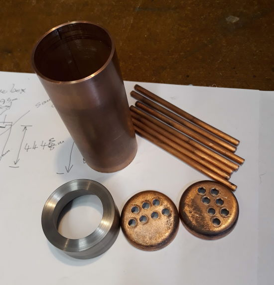 smokebox and boiler parts