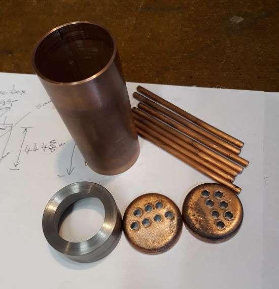 smokebox and boiler parts