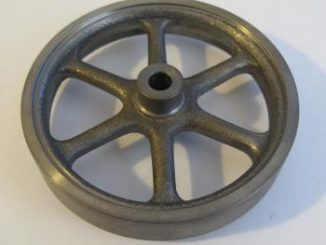 a cast iron flywheel