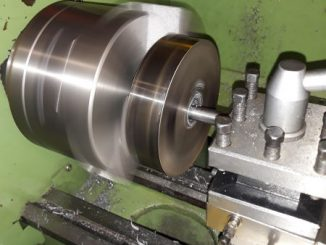 rear wheel rim blanks being machined