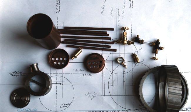 miniature traction engine plan and parts