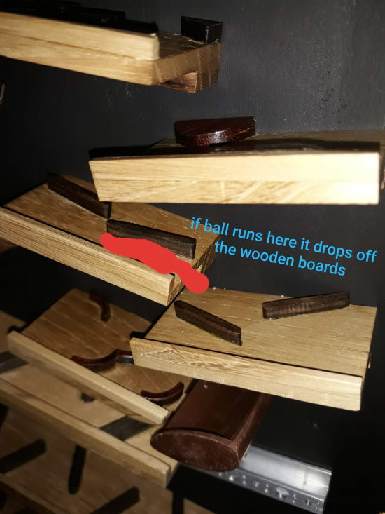 marble run wooden board error