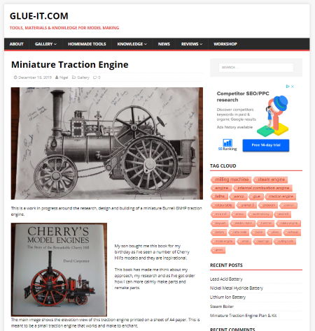 SEO miniature traction engine page