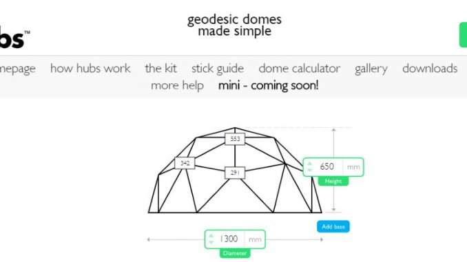 Hubs Geodesic Dome