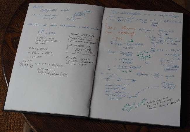 Miniature Steam Engine Notebook