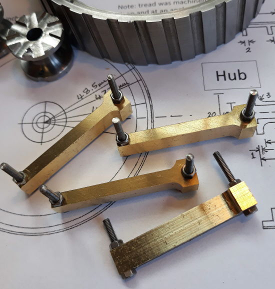 spoke sets machined to shape and size