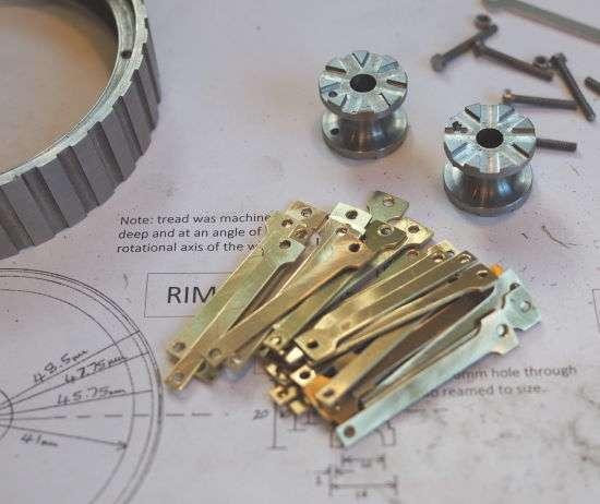 spokes, hubs and rim