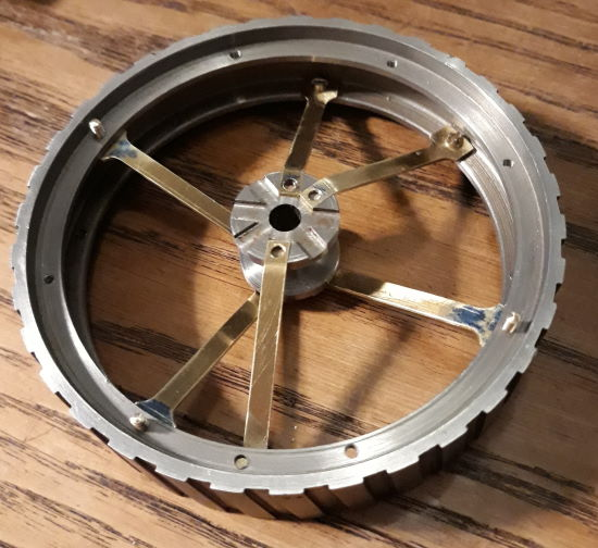 part built rear wheel rim