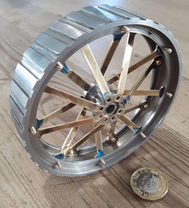 assembled rear wheel rim