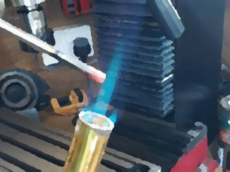 heating silver steel with blow torch