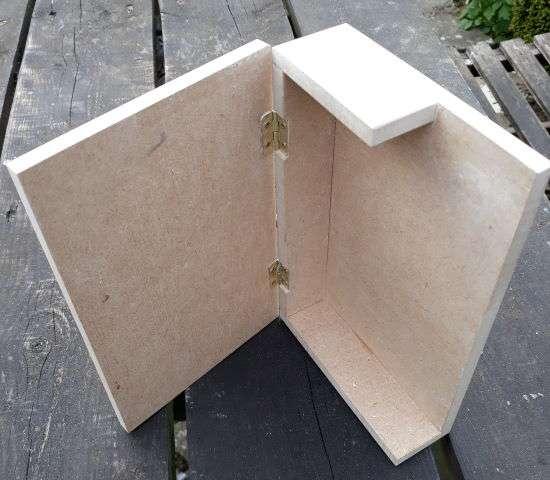 open hinged book nook