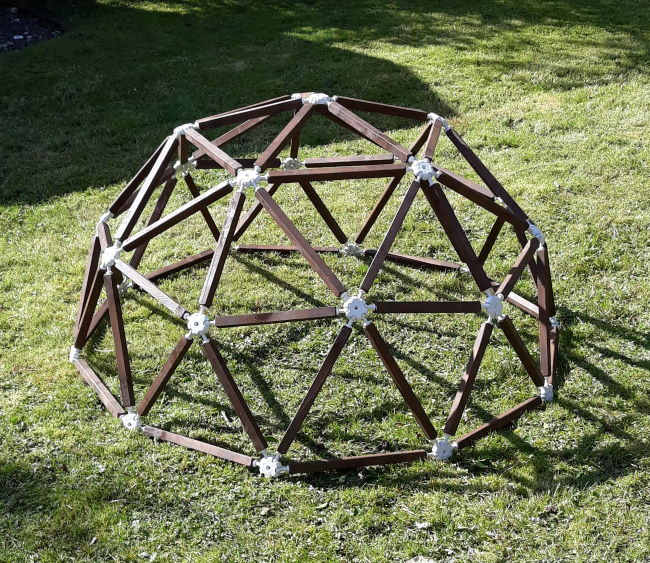 1.3m diameter geodesic dome