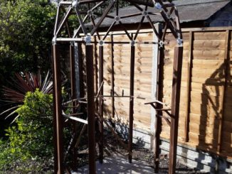 a greenhouse frame