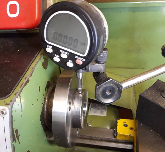 warco 240b spindle runout
