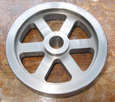 roughed out flywheel