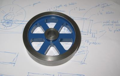 painted flywheel