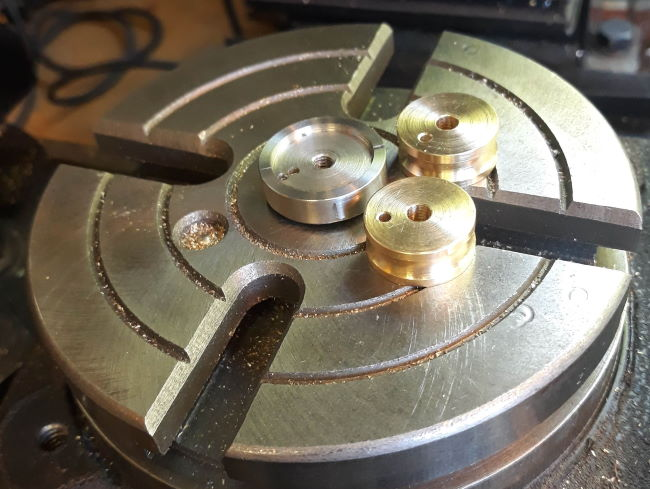 rotary table jig and hub blanks