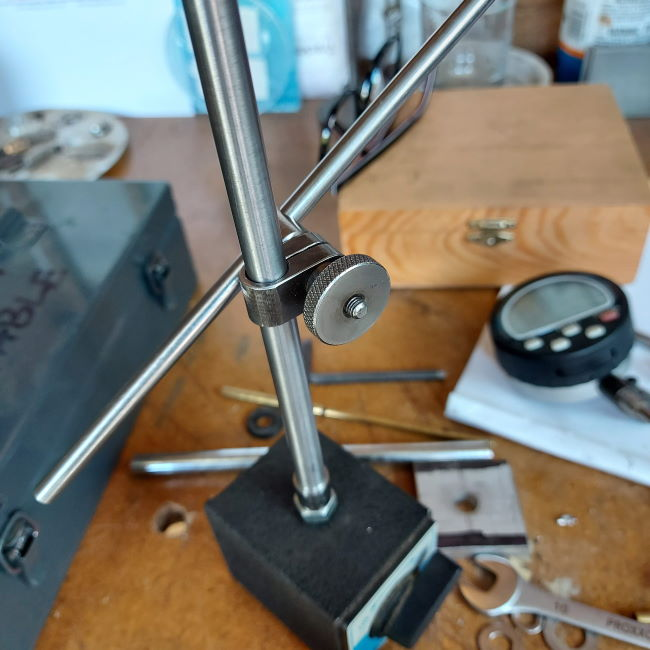magnetic base and machined upright