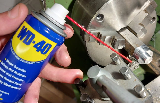 knurling the tightening nut and WD40