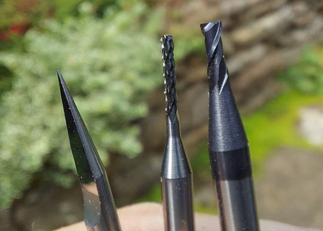 engraver, end mill and slot drill