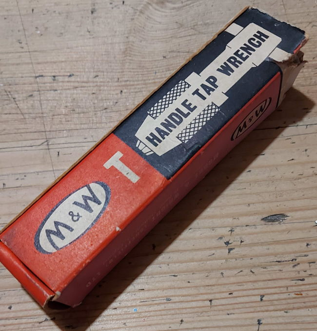 T-handle Tap wrench in box