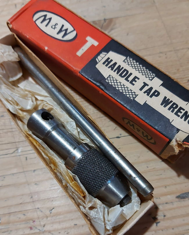 M&W Tap wrench in box