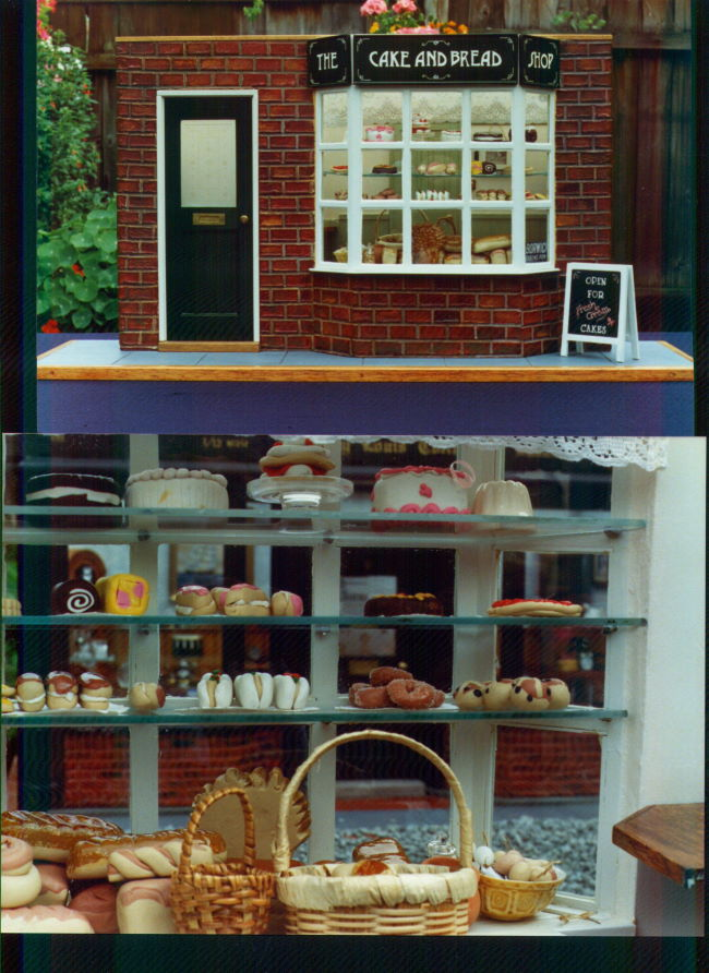 inside and outside the cake shop