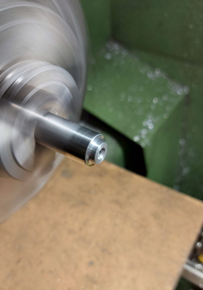 machining buttons from mild steel