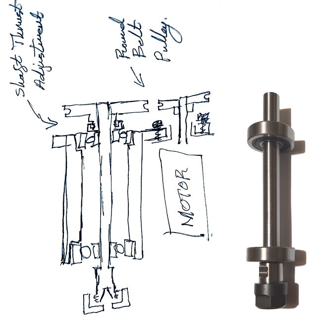 sketch for a cnc spindle