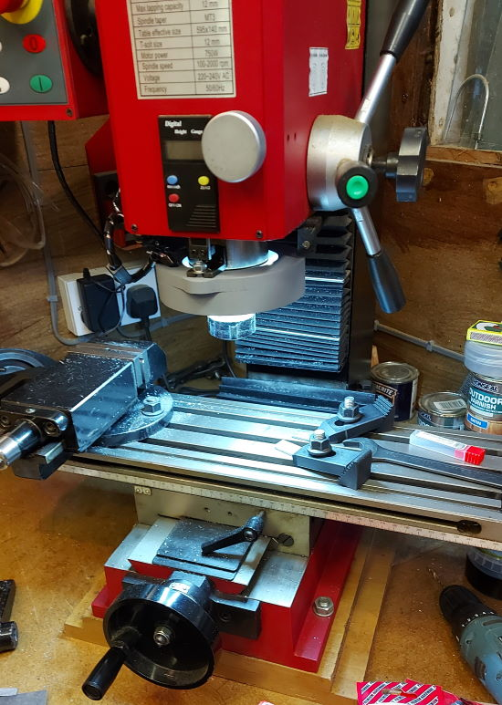 milling machine lights on